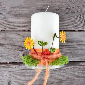 Kerze mit Wicklung